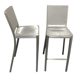 Philippe Starck Hudson Barstools for Emeco - A Pair For Sale