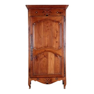 18th Century French Louis XV Bonnetiere Armoire For Sale