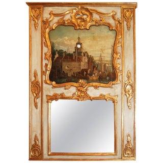 Clock Tower Trumeau Mirror