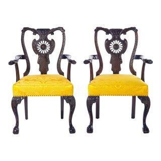 19th C. English Armchairs - a Pair For Sale