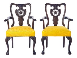 Image of Canary Yellow Side Chairs