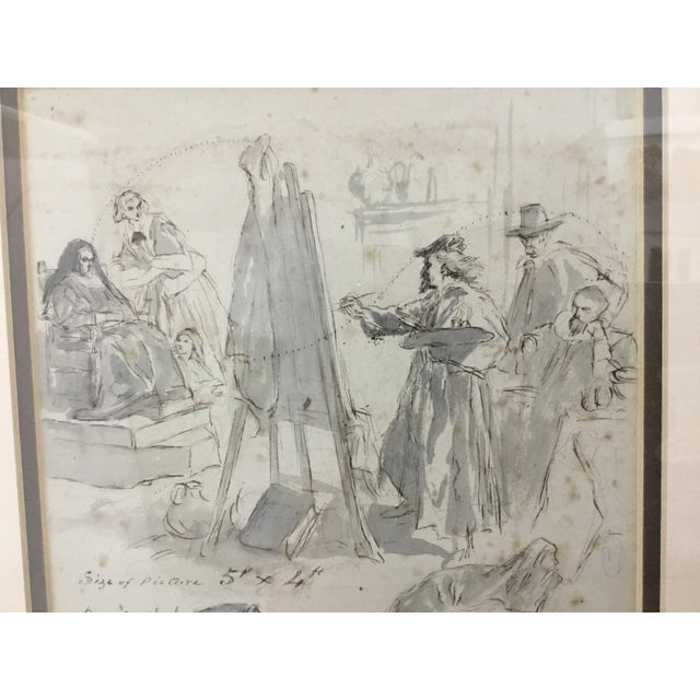 Original Pen and Ink Study Drawing by Sir John Gilbert For Sale In Providence - Image 6 of 11