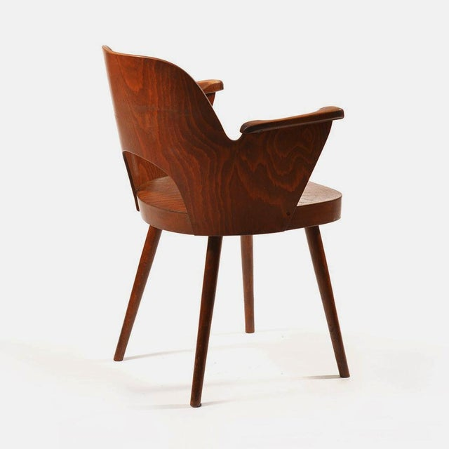 Mid-Century Armchair by Oswald Haerdtl for TON For Sale - Image 6 of 7
