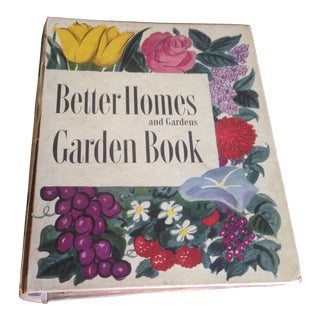 1951 Mid-Century Decorative Garden Book With Great Cover For Sale