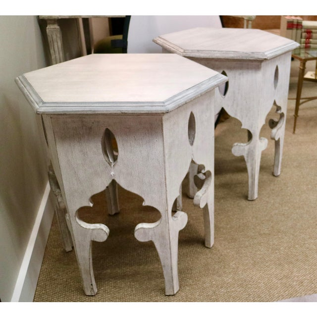 Stunning pair of Moroccan Tables! Great condition. Dimensions: 24w - 28.5h - 24d
