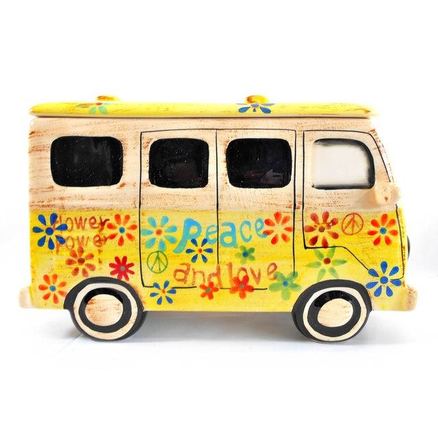 Yellow Hippie Van Ceramic Cookie Jar - Image 2 of 10