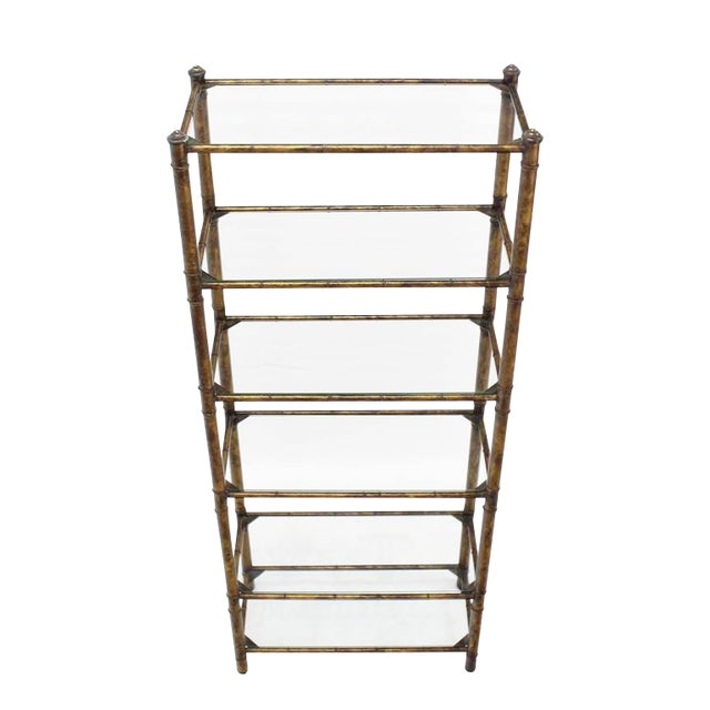 Metal Faux Bamboo Shelf For Sale