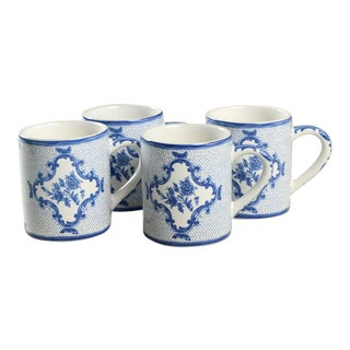 Tiffany Delft Mug - Set of 4 For Sale