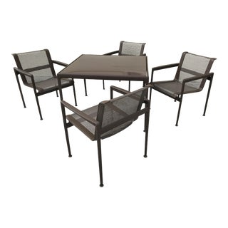 Richard Schultz 1966 Aluminum Dining Table With Chairs - Dining Set