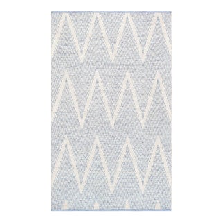"Pasargad Simplicity Hand-Woven Aqua Cotton Rug- 5' 0"" X 8' 0"" For Sale"