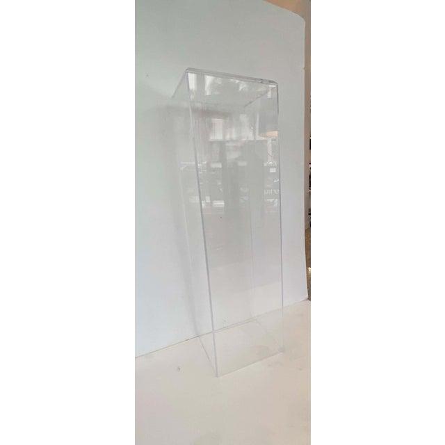 "Transparent 42"" Lucite Pedestals Floor Samples bySnob Galeries - a Pair For Sale - Image 8 of 13"