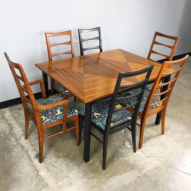 Robert Allen Mid Century Modern Dining Set by Stanley For Sale - Image 4 of 13