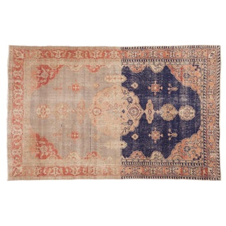 "Vintage Distressed Sivas Rug - 4'10"" X 7'7"" For Sale"