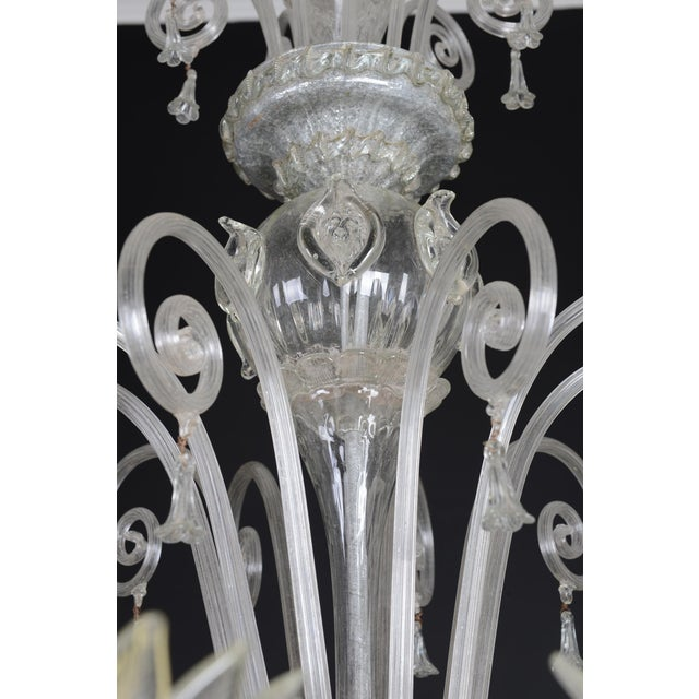 1900s Italian Murano Glass 10-Light Chandelier For Sale In Miami - Image 6 of 11