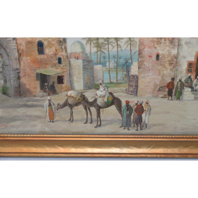 Late 19th to Early 20th Century Middle East Oil Painting For Sale - Image 4 of 8
