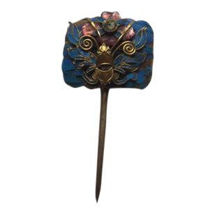 King Fisher Hair Pin With Semi-Prescious Stones