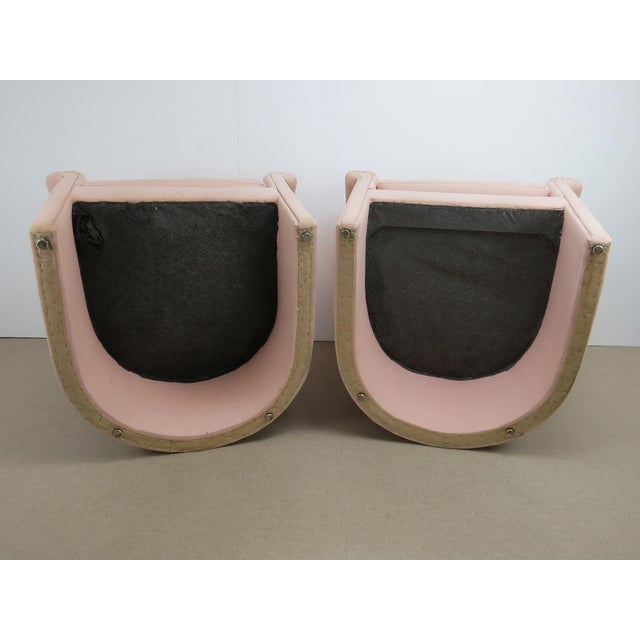 1960s Milo Baughman Style Muted Rose Pink Barrel Back Tub Chairs - a Pair For Sale - Image 11 of 13