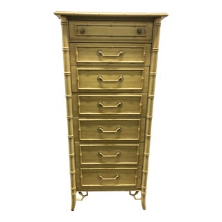 Thomasville Allergo Chinoiserie Faux Bamboo Lingerie Chest For Sale