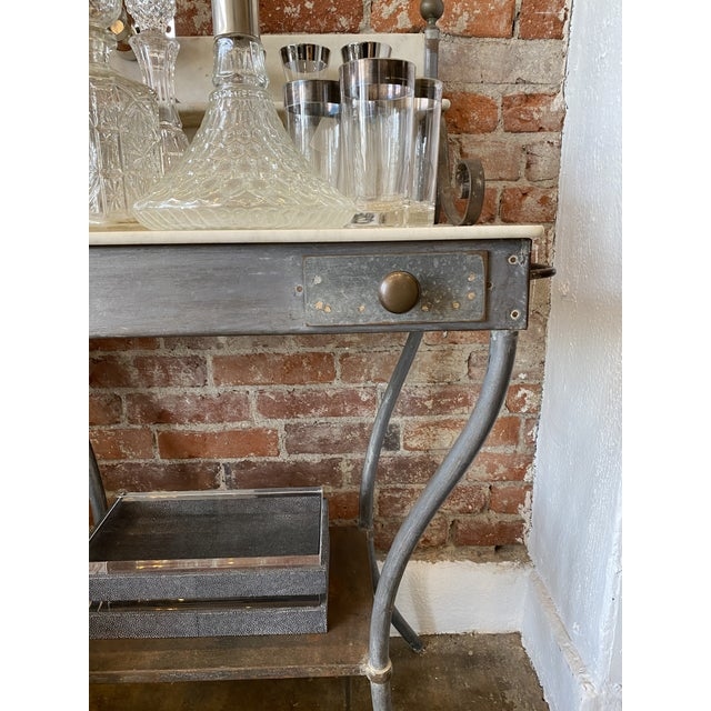 Antique Zinc and Marble Dry Sink Basin For Sale - Image 4 of 11