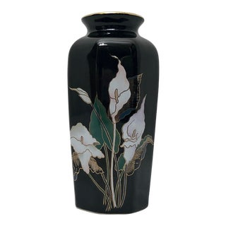 Japanese Chinoiserie Fine China Vase For Sale