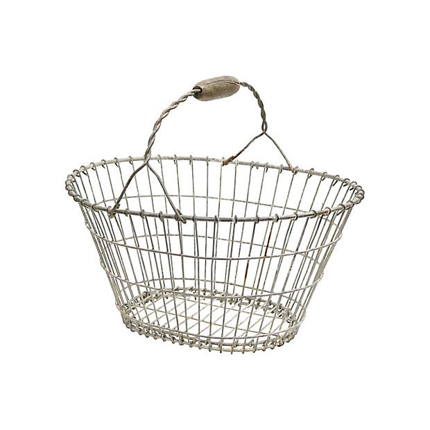 Antique French Garden Basket For Sale - Image 4 of 4
