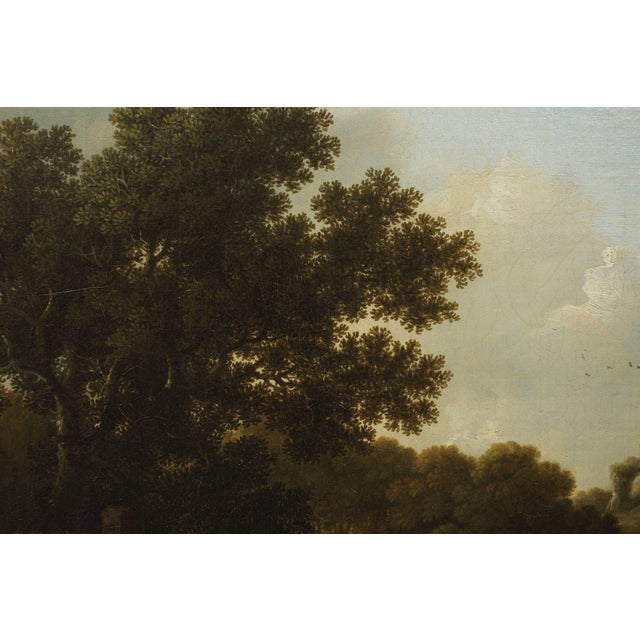 """""""Landscape W/ Castle Ruins"""" Antique English Painting by George Smith of Chichester For Sale - Image 11 of 13"""