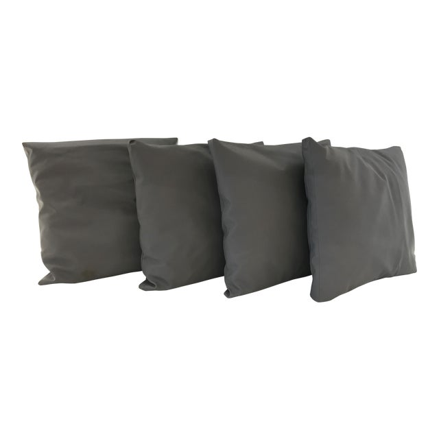 Outdoor Gray Pillows - Set of 4 For Sale