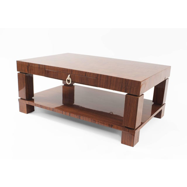 Mid 20th Century French Midcentury 1950s Rosewood Coffee Table For Sale - Image 5 of 5