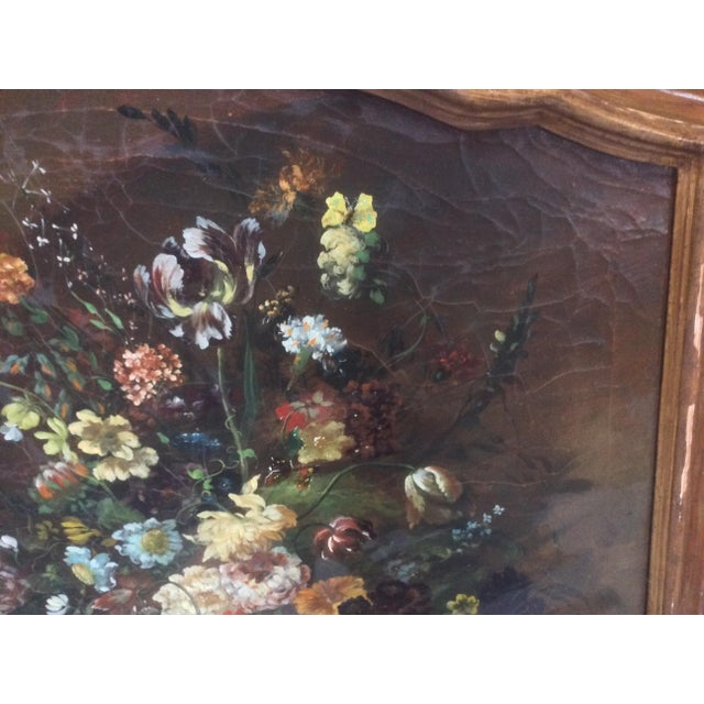 Copper Decorative Italian Still Life Floral Painting B For Sale - Image 8 of 11