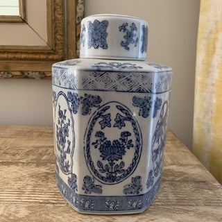 Chinese Blue and White Ceramic Hexagonal Ginger Jar Preview