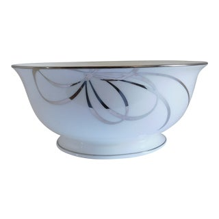 Kate Spade Belle Boulevard/Lenox White Porcelain Bowl For Sale