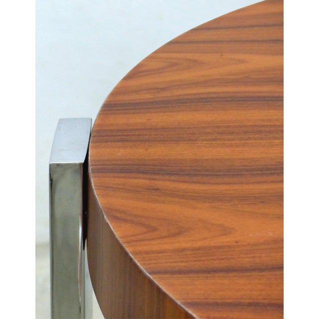 Early 21st Century La Spada & Mazza for Medea, Side Table in Palisander Wood and Chrome Italy For Sale - Image 5 of 9