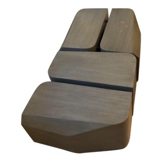 Contemporary Steven Volpe Cubica Cocktail/Coffee Tables - a Pair For Sale
