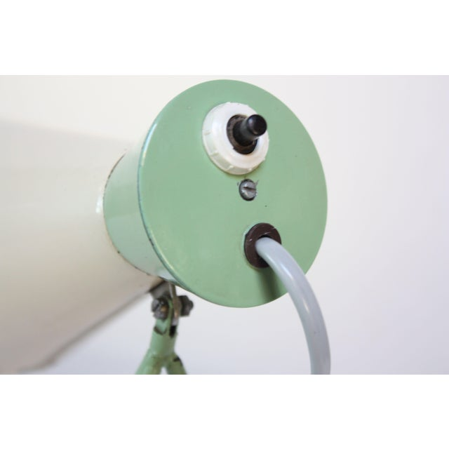 Mint Green Tripod Table Lamp by Josef Hurka for Napako For Sale - Image 9 of 13