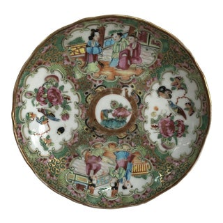 Chinese Rose Medallion Scallop Plate For Sale