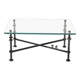 Patinated Wrought Iron Coffee Table by Llana Goor For Sale