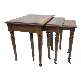 Mid 20th Century Rolling Nesting Tables - Set of 3 For Sale