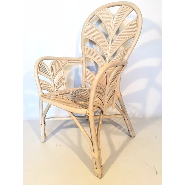 Mid Century Rattan Palm Tree Back Chair - 10 Available For Sale - Image 12 of 12