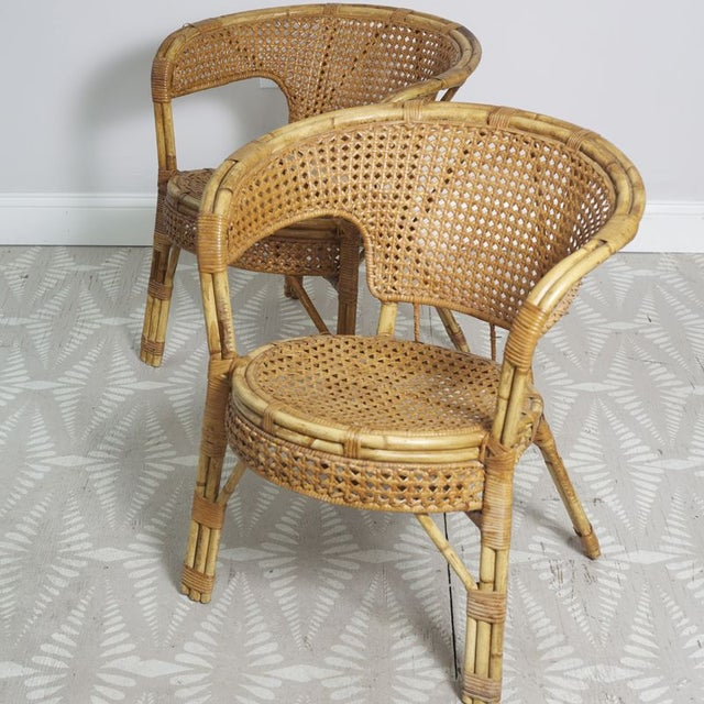 Rattan Cane Arm Chairs - A Pair - Image 3 of 5