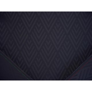 Art Deco Ralph Lauren Jazz Age Geometric Chevron Smoke Upholstery Fabric - 2y For Sale