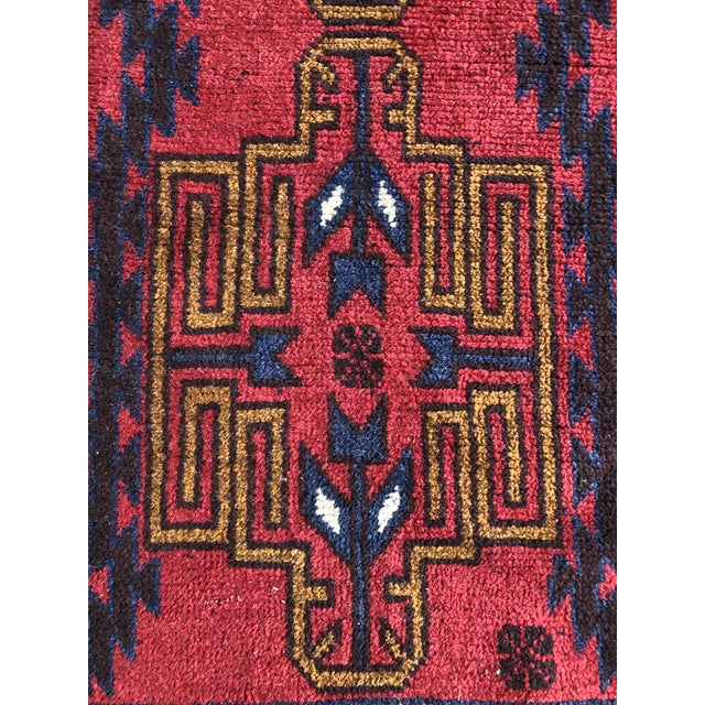 1930s Antique Handmade Tribal Rug For Sale - Image 5 of 9