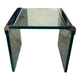 Vintage 1980s Leon Rosen for Pace Collection Waterfall Side Table For Sale