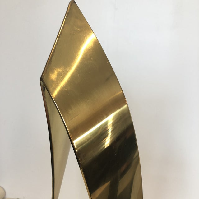 C. Jere Brass Marble Ribbon Sculpture For Sale - Image 12 of 13