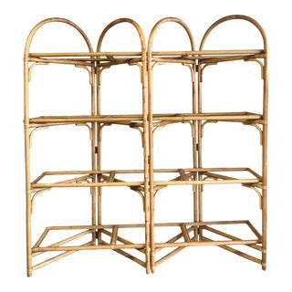 Palm Beach Style Rattan Shelving Unit