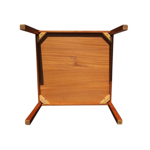 1960s Danish Mid-Century Modern Henning Kjaernulf Vejle Stole Møbelfabrik Side Table For Sale - Image 10 of 11