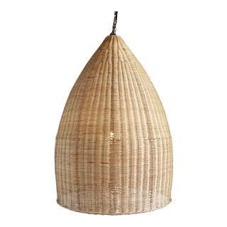 Large Raw Rattan Pod Lantern For Sale