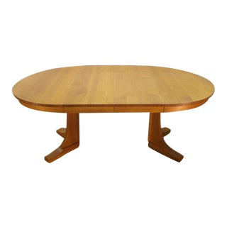 Mission Oak Arts and Crafts Stickley Round Dining Table For Sale