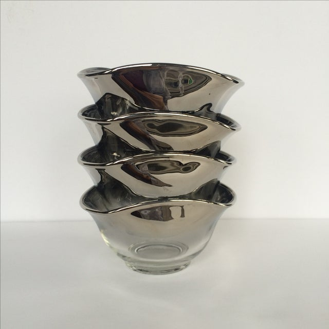 Silver Ombre Bowls- Set of 4 - Image 2 of 7