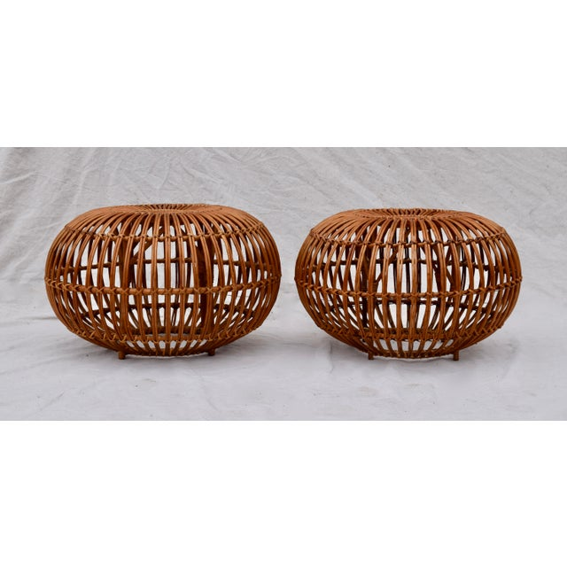 1950s Franco Albini Pouf Ottomans, Pair For Sale - Image 5 of 8