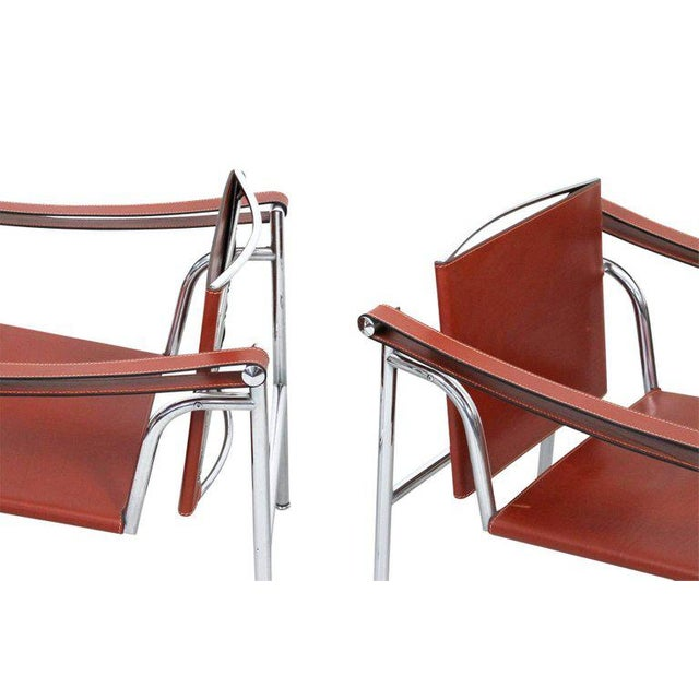 Brown Pair of Le Corbusier LC1 Lounge Chairs for Cassina For Sale - Image 8 of 12